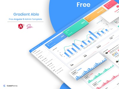Gradient Able Free Angular 8 Admin Template