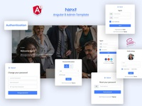 Authentication - Next Angular 8 Admin Template