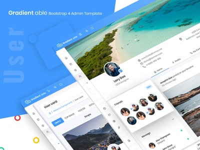 User - Gradient able bootstrap 4 admin template