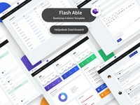 Helpdesk dashboard - Flash able bootstrap 4 template