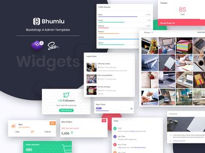 Widgets - Bhumlu bootstrap 4 admin template