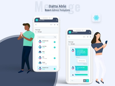 Message - Datta able react admin template