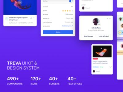 Treva UI Kit - A Perfect Design System