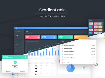 Gradient able angular 8 admin template