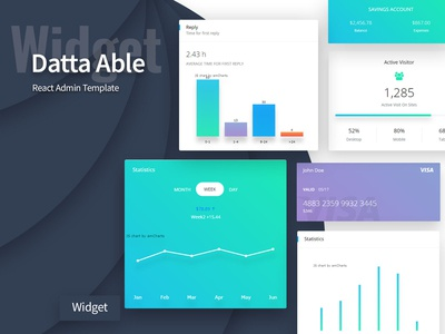 Widget - Datta Able React Admin Template