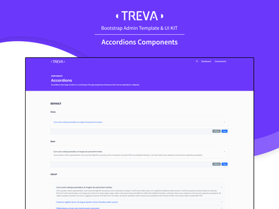 Accordions Components  - Treva Admin Template