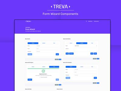 Form Wizard Components - Treva Admin Template