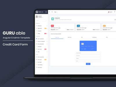 Credit Card Form - Guru Able Admin Template