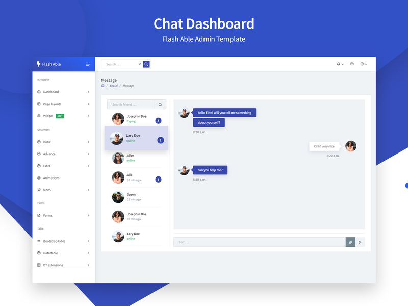 Chat Dashboard - Flash Able Admin Template bootstrap admin backend dashboard bootstrap admin template bootstrap uidesign ui ux user admin design bootstrap 4 branding ui  ux design admin template sass admin dashboard admin theme admin panel ui ux web app chat app chat dashboard