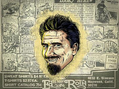 Hot Rod Heroes #1 Ed Roth hotrod illustrator draw adobe ratfink roth weirdo kook halftone vector illustration