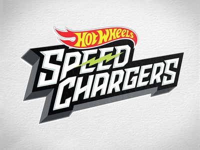 Hot Wheels Speed Chargers identity graphic design electric speed chargers typography logo illustration vector mattel hot wheels