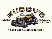 Buddy's Auto Body Identity concept 1