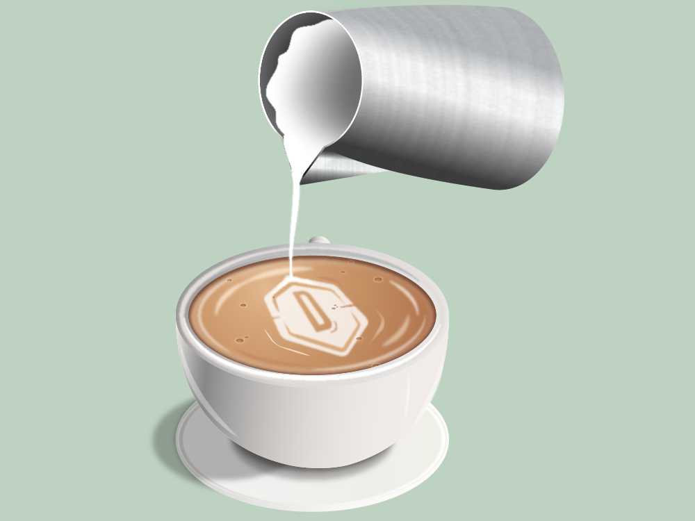 Our shout for coffee vector graphic fun design illustration
