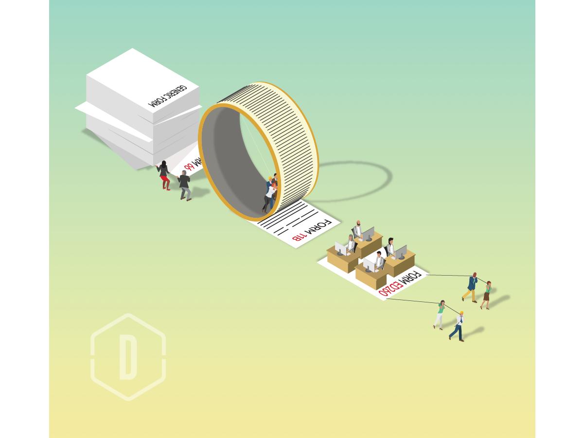 Push for Efficiency vector fun graphic design illustration