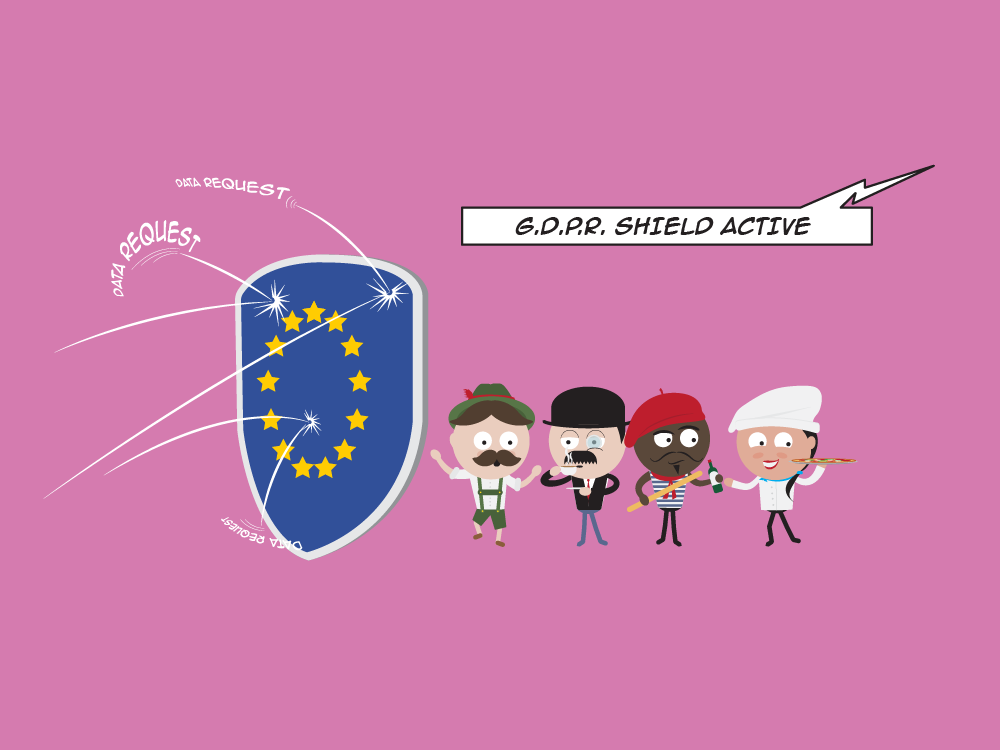 Ready for GDPR character vector graphic fun design illustration