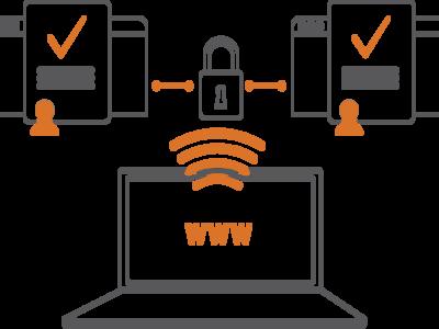 Digital Security Icon vector graphic fun design illustration