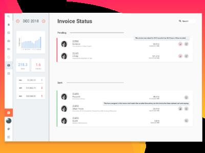 Tasman Billing project managment ux ui billing time management digital design invoicing app web design