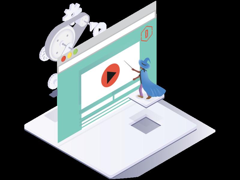 Web Software Service web character vector graphic fun design illustration