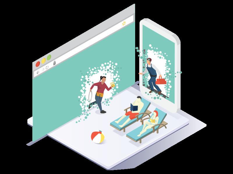 Online Portals forum online portal portals user experience app web character vector graphic fun design illustration