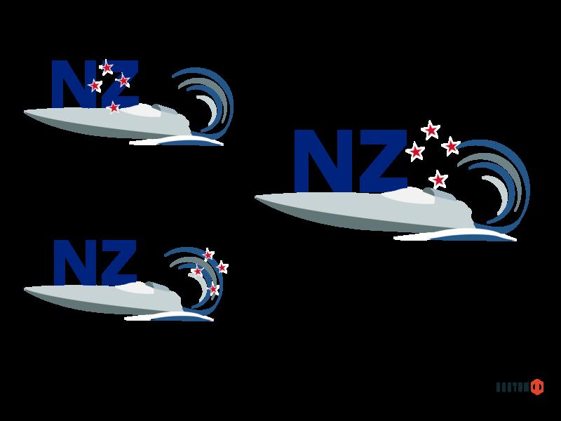 New Zealand Boat Logo Concept 2 web vector graphic illustration design