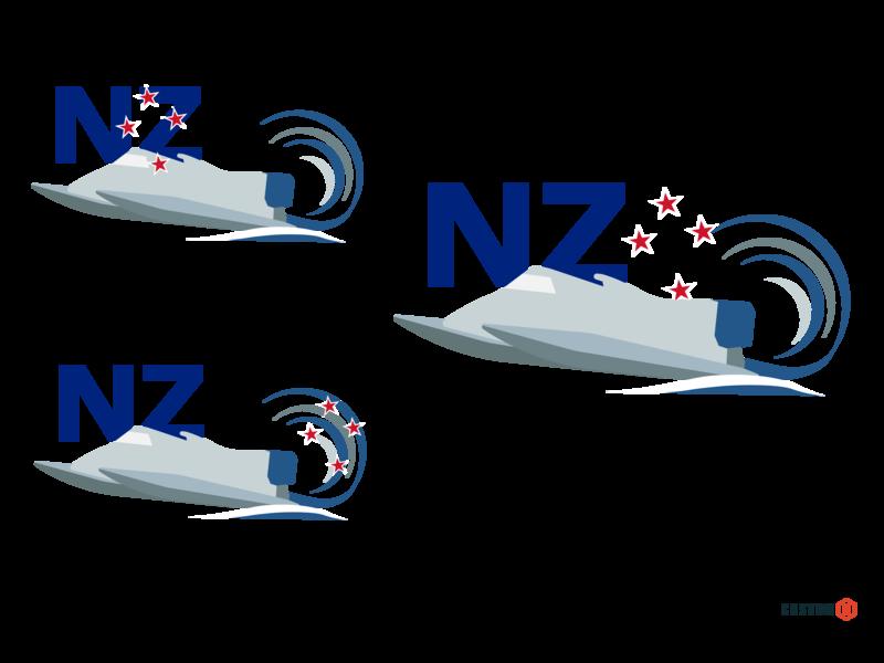 New Zealand Power Boat Concept 1 web vector graphic illustration design