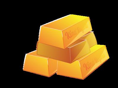 Gold Bullion Bars shiny shiny things web vector fun graphic illustration