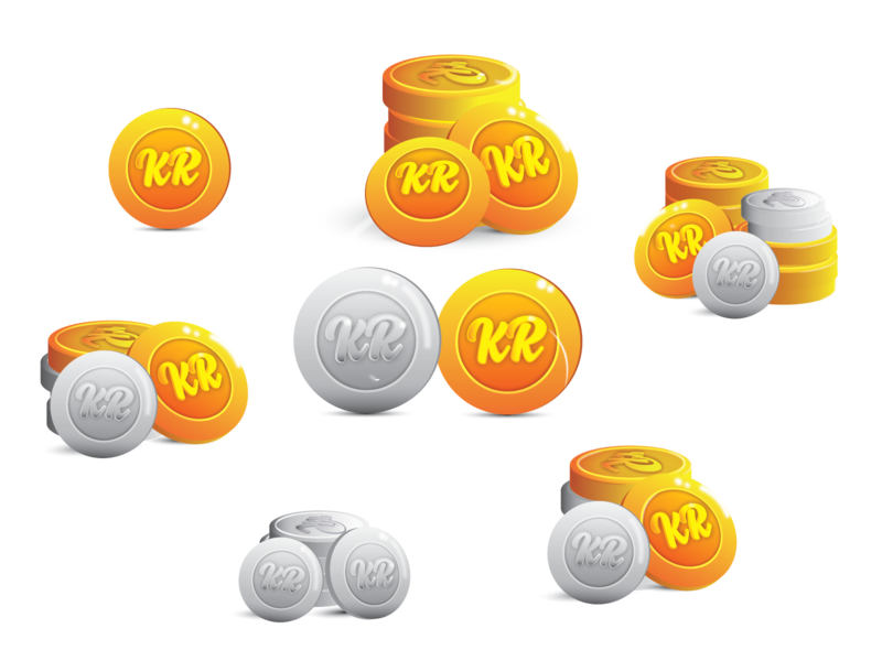Kind Regards Game Coins vector fun graphic design illustration shiny shiny things