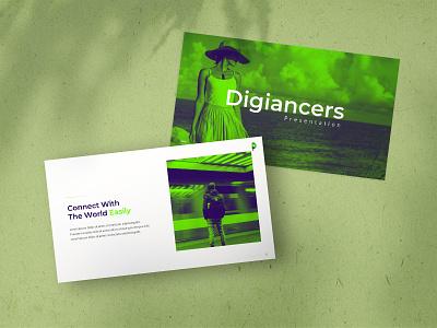 Digiancer Influencer Presentation Template creative business presentation minimalist branding template graphic design presentation design ppt powerpoint