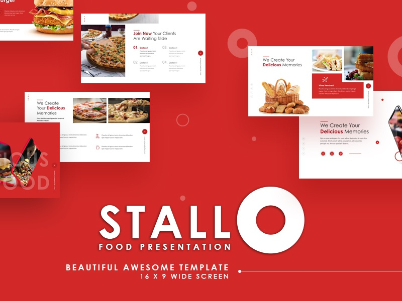 Stallo Food Powerpoint Template By Slidesign Dribbble Dribbble