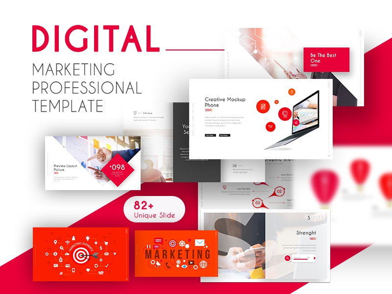 Digital Marketing Professional Presentation Template By