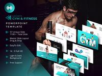 Sporty Gym & Fitness Presentation Template