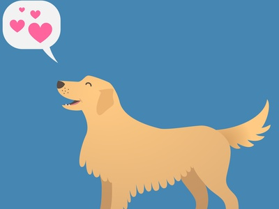 Dog Love happy dog doggo dog talk vector dog vector illustrator dog illustration dog art dogs dog golden retriever dog mom