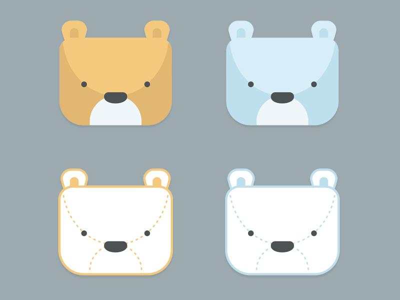 bear design identity illustration vector bear kids