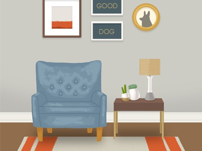 home background background chair succulents west elm gallery gallery wall digital art illustration