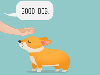 """Good Dog"" good dog illustrator vector corgi dog illustration dog"