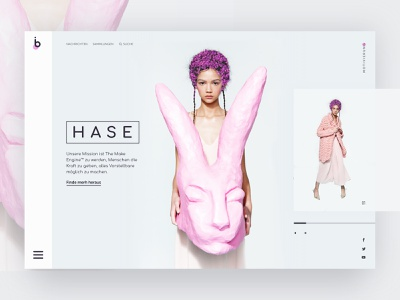 Daily ui #45 brand identity branding color purple landing page landing ux typography pink girl animation web design ui website bunny