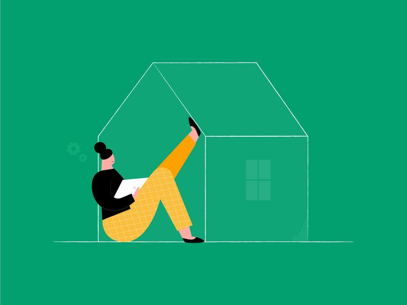 Working from home illustration art vector illustration dribbble ui vectornator vector design wfh working from home illustration
