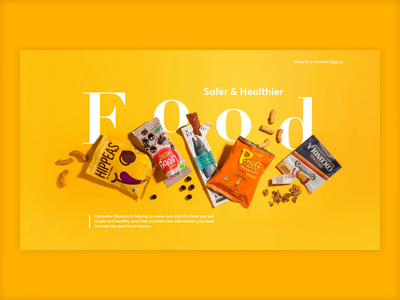 Food Safety Article Page website design webdesign website ux branding color palette yellow ui healthy eating healthyfood food healthy minimal motion design motion animation dribbble