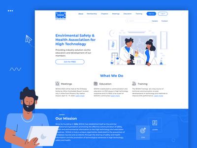 SESHA homepage redesign