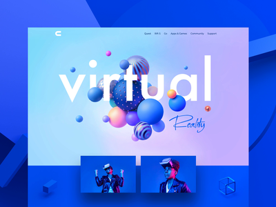 Virtual Reality tools page pink ui colors website animation 3dsmax virtual reality virtualreality landing page landingpage blue motiongraphics motion design motion 3d animation 3d illustration
