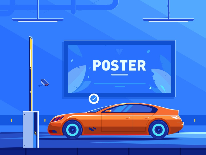 Parking payment future payment 小五 car illustration