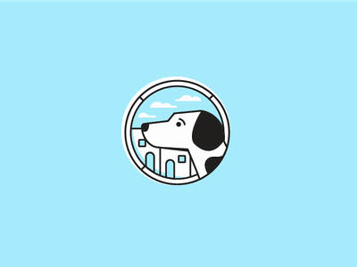 Little Doggo pupper pup doggy doggo dog design logo brand identity illustration