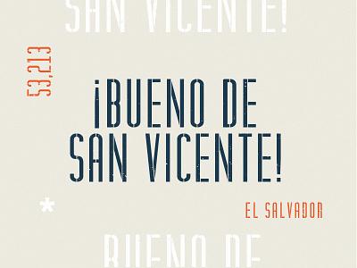 San Vicente specimen design condensed stencil typography font type
