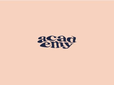 academy logotype typemark funky weird experimental typography type logo identity