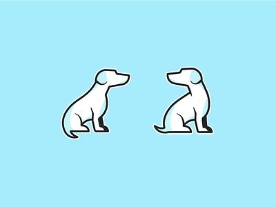 More Little Doggos blue symbol icon grooming boarding daycare dog logomark logo identity brand