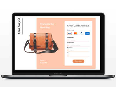 #002 Credit Card Checkout ui daily
