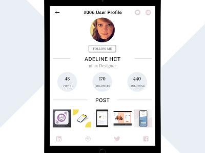 #006 User profile 006 user account user userprofile dailyui ui ux daily daily challange design uidaily webdesign