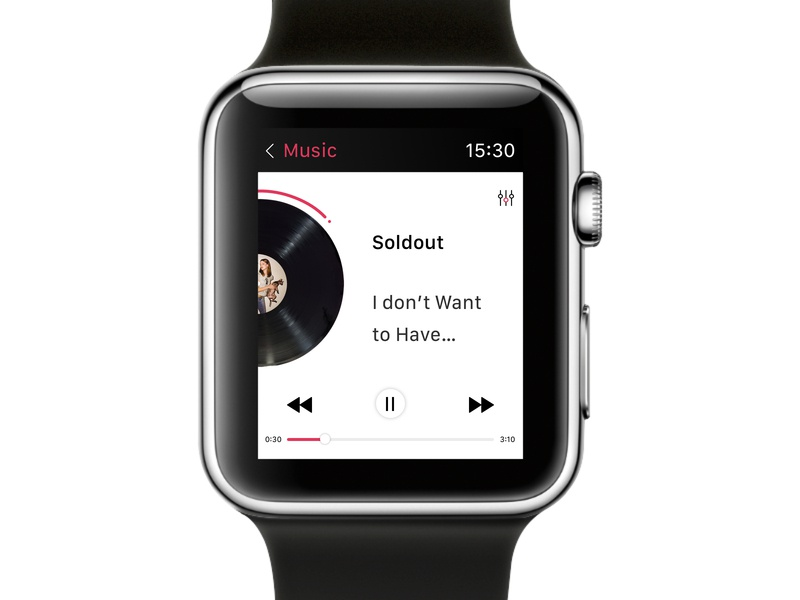 009 Music Player ui Daily applewatch apple player music 009 ui ux dailyui daily challange daily uidaily design webdesign