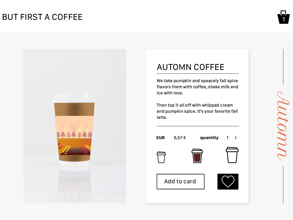 012 Single product Daily ui ecommerce design eshop coffee branding vector 012 illustration ui ux dailyui daily challange daily uidaily design webdesign
