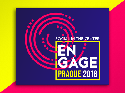 Engage Prague 2018 prague engage socialbakers conference neon yellow pink bright branding
